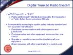 digital trunked radio system