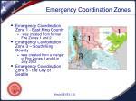emergency coordination zones