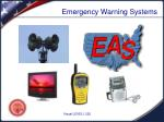emergency warning systems