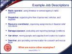 example job descriptions