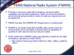 fema national radio system fnars