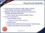 king county disasters