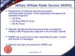 military affiliate radio service mars