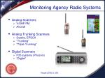 monitoring agency radio systems