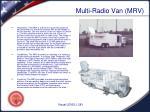 multi radio van mrv