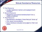 mutual assistance resources