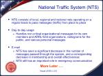 national traffic system nts