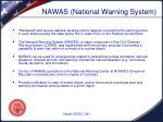 nawas national warning system
