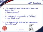 nwr questions