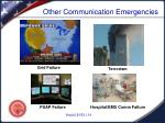 other communication emergencies