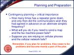 planning and preparation6