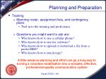 planning and preparation7