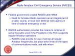 radio amateur civil emergency service races