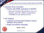 salvation army team emergency radio network satern