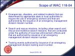 scope of wac 118 04