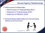 served agency relationships