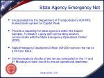 state agency emergency net