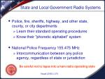 state and local government radio systems