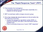 the rapid response team rrt