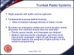 trunked radio systems