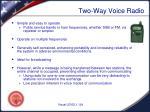 two way voice radio