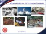 western washington communications emergency