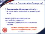 what is a communication emergency