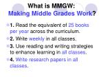 what is mmgw making middle grades work