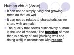human virtue arete