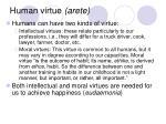 human virtue arete6
