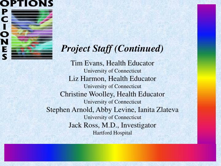 Project Staff (Continued)