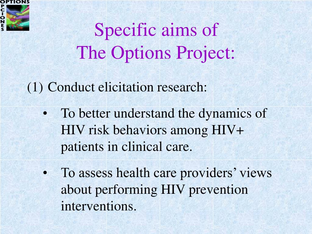 Specific aims of