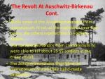 the revolt at auschwitz birkenau cont