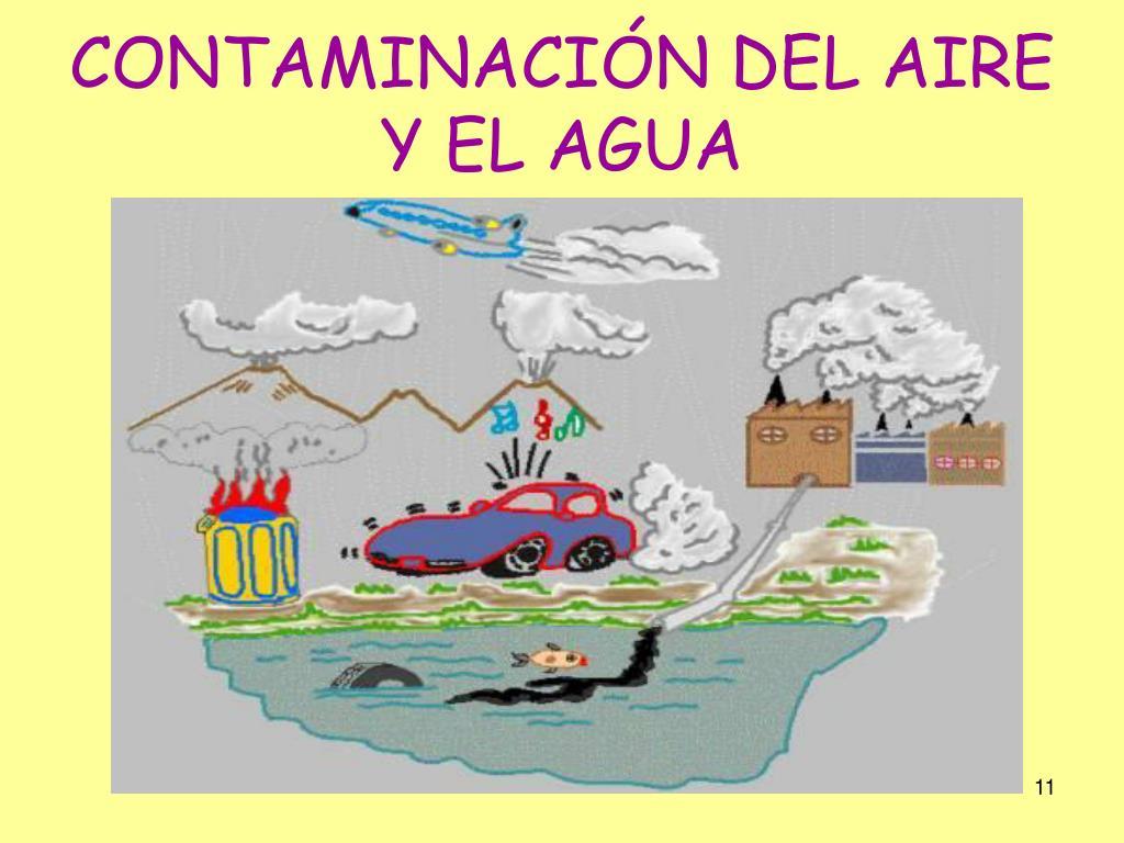 CONTAMINACIÓN DEL AIRE Y EL AGUA