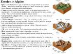 erosion alpine