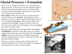 glacial processes formation