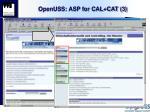 openuss asp for cal cat 3