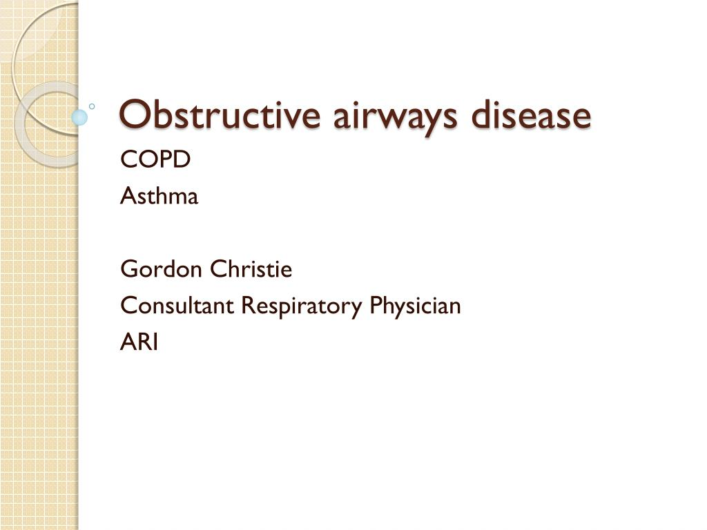 obstructive airways disease l.