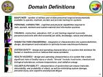 domain definitions