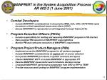 manprint in the system acquisition process ar 602 2 1 june 2001