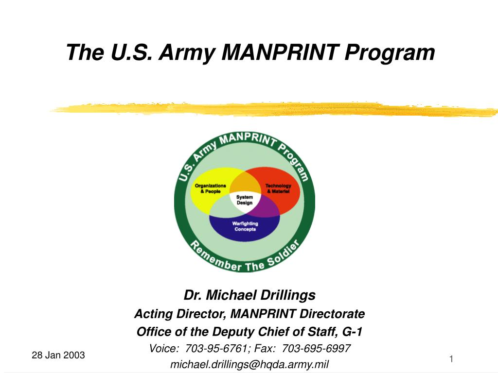 the u s army manprint program l.