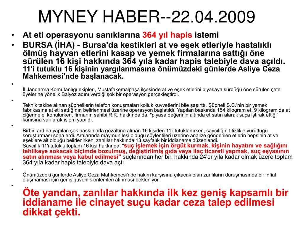MYNEY HABER--