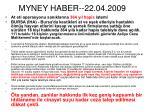 myney haber 22 04 2009