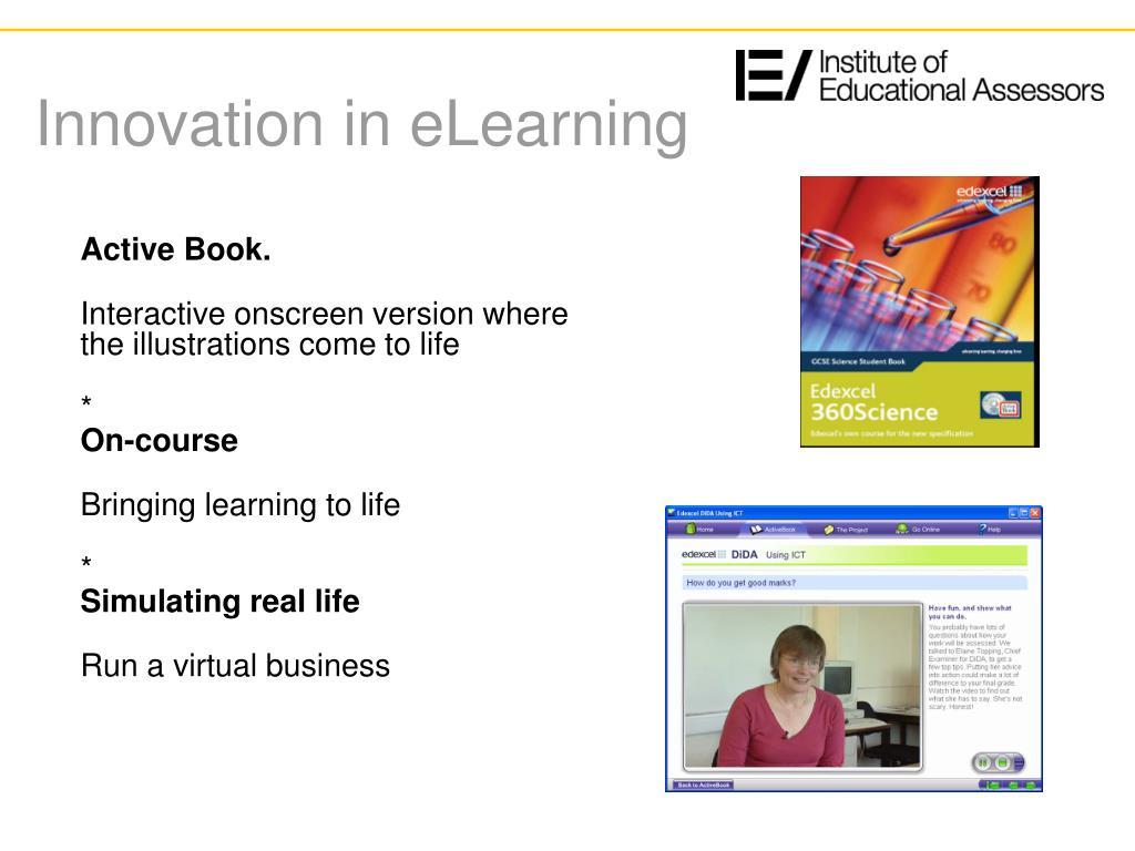 Innovation in eLearning