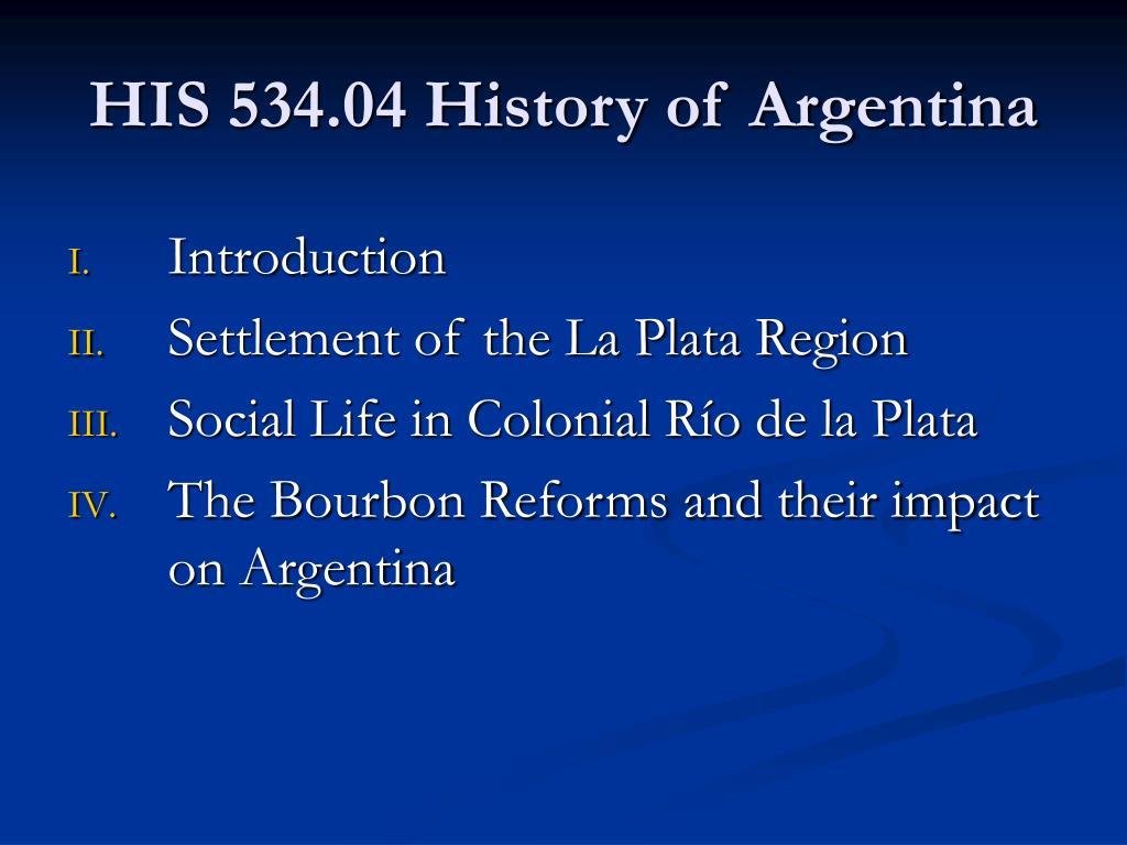 his 534 04 history of argentina l.
