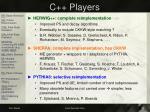 c players