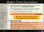 modern event generators