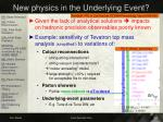 new physics in the underlying event