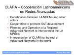clara cooperaci n latinoam ricana en redes avanzadas