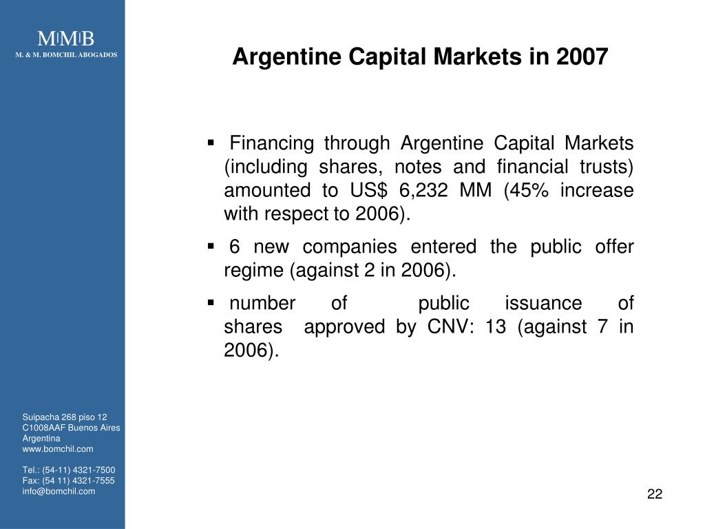 Argentine Capital Markets in 2007